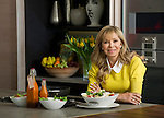 COOKERY WRITER, ANNABEL KARMEL.<br /> &quot;ANNABEL'S FAMILY COOKBOOK&quot; IS TO LAUNCH IN MARCH 2014..<br /> IN THE KITCHEN AT HOME, ST.JOHNS WOOD, LONDON.<br /> 20-2-2014 PIC BY IAN MCILGORM