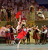 Don Quixote <br /> The Bolshoi Ballet <br /> at The Royal Opera House, Covent Garden, London, Great Britain <br /> press photocall / rehearsal <br /> 25th July 2016 <br /> <br /> choreography by Alexei Fadeyechev <br /> <br /> Margarita Shariner as Kitri <br /> Artem Ovcharenko as Basil <br /> <br /> Photograph by Elliott Franks <br /> Image licensed to Elliott Franks Photography Services