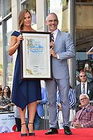 LOS ANGELES, CA. August 20, 2018: Jennifer Garner & Mitch O'Farrell at the Hollywood Walk of Fame Star Ceremony honoring actress Jennifer Garner.