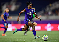 Orlando, FL - Saturday September 10, 2016: Jasmyne Spencer during a regular season National Women's Soccer League (NWSL) match between the Orlando Pride and Sky Blue FC at Camping World Stadium.