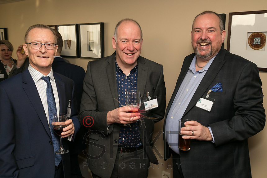Left to right are Mark Dyer of GET Management, David Stewart of InResidence and Justin Hevness of Firth & Scott