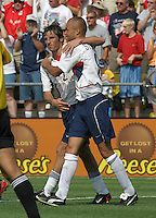 Frankie Hejduk, left, Earnie Stewart, right, USMNT vs Paraguay, July, 6, 2003, Columbus, Ohio.