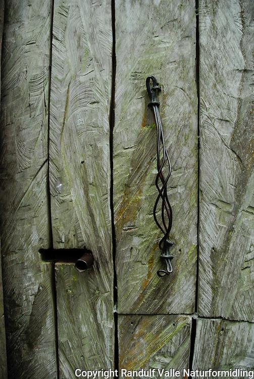 Dørblad fra gammel villmarkshytte ---- Door from old hut