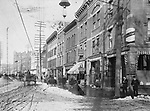 Bank Street in Waterbury circa 1900.
