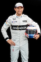 March 17, 2016: Jenson Button (GBR) #22 from the McLaren Honda Formula 1 team at the drivers' portrait session prior to the 2016 Australian Formula One Grand Prix at Albert Park, Melbourne, Australia. Photo Sydney Low