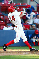 July 23rd 2008:  Edward Koncel of the Spokane Indians, Short Season Class-A affiliate of the Texas Rangers, during a game at Home of the Avista Stadium in Spokane, WA.  Photo by:  Matthew Sauk/Four Seam Images