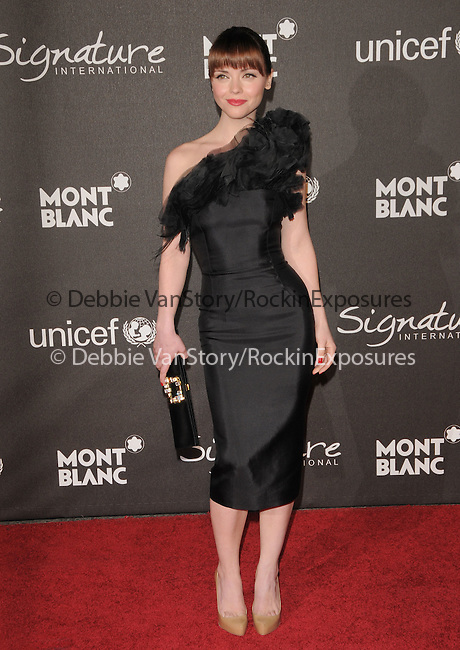 February 20,2009: Christina Ricci at The Montblanc Signature for Good Charity Gala held at Paramount Studios in Hollywood, California. Credit: RockinExposures