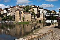 Europe/France/Aquitaine/40/Landes/Mont-de-Marsan: Quartier de La Miroiterie au confluent de la Douze et du Midou pour former la Midouze