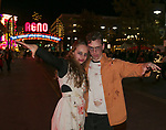 Annika and Carson during the Zombie Crawl held on Saturday night, October 26, 2019 in downtown Reno.