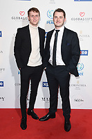 LONDON, UK. April 08, 2019: Jamie Borthwick &amp; Max Bowden arriving for the Football for Peace initiative dinner by Global Gift Foundation at the Corinthia Hotel, London.<br /> Picture: Steve Vas/Featureflash