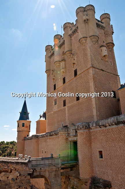 Alcazar, the picturesque castle, originally built as an Arab fort, later used as a royal palace and then military academy