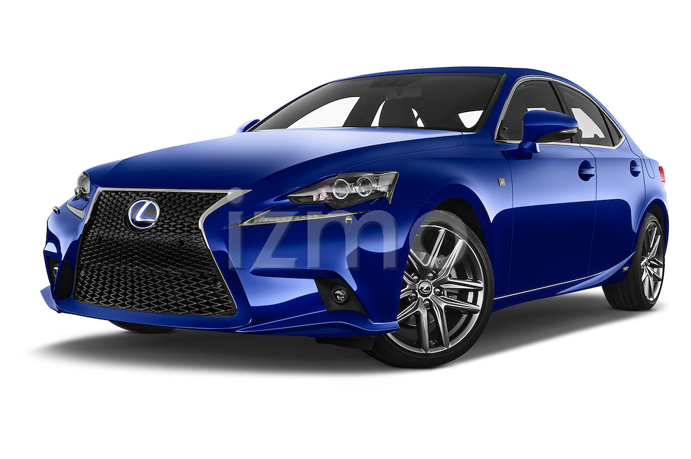 Stock pictures of low aggressive front three quarter view of a 2015 Lexus IS F SPORT LINE 4 Door Sedan Low Aggressive
