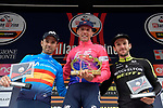 Michael Woods (CAN) EF Education First, a former world-class runner, claimed his first one-day race victory, with Spanish Champion Alejandro Valverde (ESP) Movistar Team 2nd and Adam Yates (GBR) Mitchelton-Scott 3rd, at the world's oldest classic the 100th edition of Milano-Torino running 179km from Magenta to the Basilica at Superga in Turin, Italy. 9th Octobre 2019. <br /> Picture: Fabio Ferrari/LaPresse | Cyclefile<br /> <br /> All photos usage must carry mandatory copyright credit (© Cyclefile | LaPresse/Fabio Ferrari)