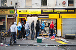 © Joel Goodman - 07973 332324 . 08/08/2011 . London , UK . Looters raid the Clarence Convenience Store on Clarence Road on the Pembury Estate in Hackney during a 3rd night of rioting and looting in London , which followed a protest against the police shooting of Mark Duggan in Tottenham . Photo credit : Joel Goodman