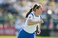 Kelly Schmedes. FC Gold Pride defeated the Boston Breakers, 2-1, in their home opener on April 5, 2009 at Buck Shaw Stadium in Santa Clara, CA.