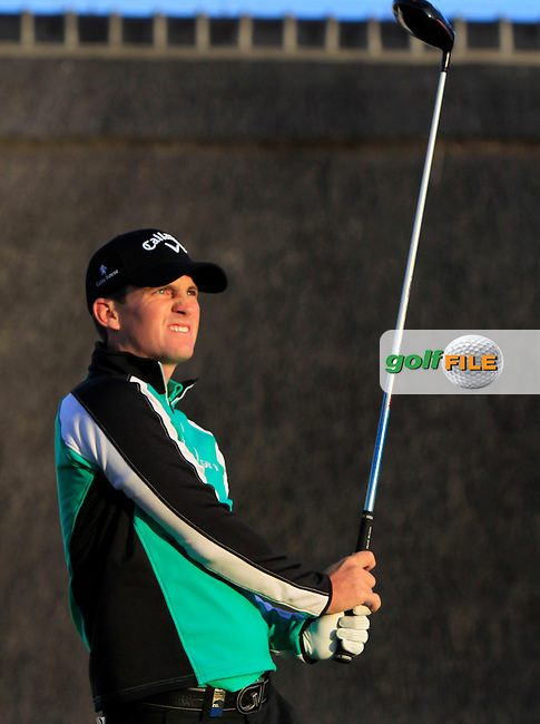 Chris Paisley (ENG) on the 1st tee during Round 1 of the 2015 KLM Open at the Kennemer Golf &amp; Country Club in The Netherlands on 10/09/15.<br /> Picture: Thos Caffrey | Golffile