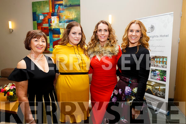 Attending the Brides of Kerry Wedding Industry Awards in the Ballyroe Heights Hotel on Sunday evening last. From Walsh Colour Print L-r, Patricia Walsh, Clare Maher, Marion O'Connor and Tina Brennan.