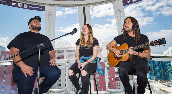 LAS VEGAS, NV - August 27, 2016: ***HOUSE COVERAGE*** Hillsong Worship performs a private set of music for fans on the The Worlds Tallest Observation Wheel, The High Roller at The Linq Promenade in Las Vegas, NV on August 27, 2016. Credit: Erik Kabik Photography/ MediaPunch