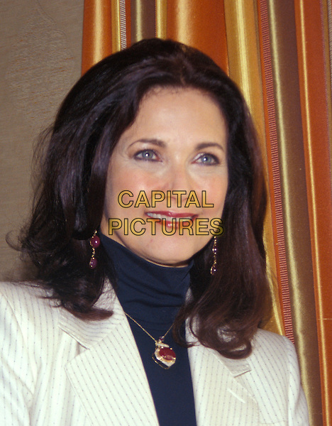 "LYNDA CARTER.""Sky High"" Photocall.July 2005.headshot portrait necklace pendant.www.capitalpictures.com.sales@capitalpictures.com.© Capital Pictures."