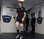New Zealand lock Chris Jack makes his way onto the park before the first international rugby test at Eden Park, Auckland, New Zealand, Saturday, June 02, 2007. The All Blacks beat France 42-11.