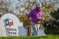 Graeme McDowell (NIR) looks over the yardage before his tee shot on 11 during day 2 of the Valero Texas Open, at the TPC San Antonio Oaks Course, San Antonio, Texas, USA. 4/5/2019.<br /> Picture: Golffile | Ken Murray<br /> <br /> <br /> All photo usage must carry mandatory copyright credit (&copy; Golffile | Ken Murray)