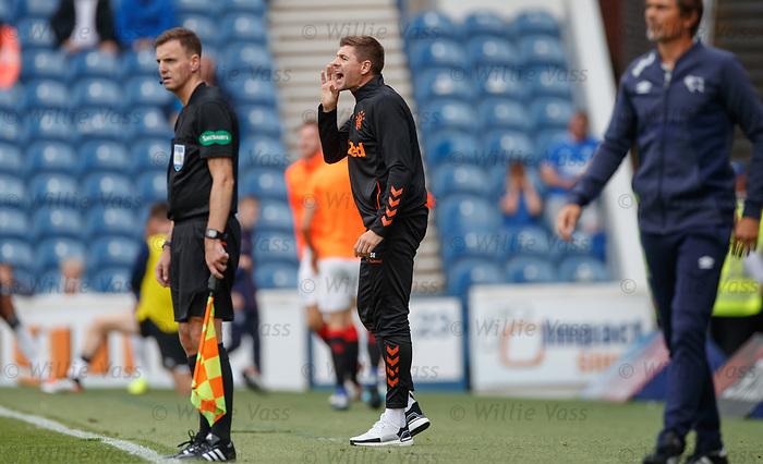 28.07.2019 Rangers v Derby County: Steven Gerrard