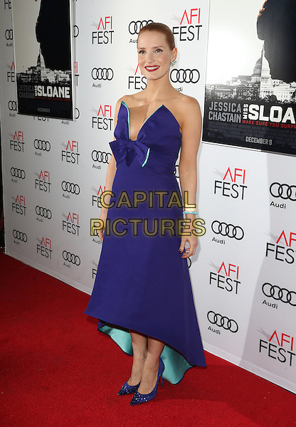 11 November 2016 - Hollywood, California - Jessica Chastain. AFI FEST 2016 Presented By Audi - Premiere Of EuropaCorp USA's &quot;Miss Sloane&quot; held at The TCL Chinese 6 Theatres. <br /> CAP/ADM/FS<br /> &copy;FS/ADM/Capital Pictures