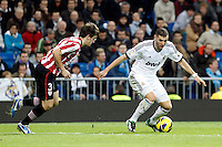 Real Madrid CF vs Athletic Club de Bilbao (5-1) at Santiago Bernabeu stadium. The picture shows Karim Benzema and Jon Aurtenetxe. November 17, 2012. (ALTERPHOTOS/Caro Marin) NortePhoto