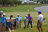 Rafael Cabrera Bello (ESP) shakes hands with fans as he departs 18 following his round 3 of The Players Championship, TPC Sawgrass, at Ponte Vedra, Florida, USA. 5/12/2018.<br /> Picture: Golffile | Ken Murray<br /> <br /> <br /> All photo usage must carry mandatory copyright credit (&copy; Golffile | Ken Murray)