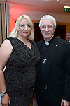 Pictured  at the IHF Ball in the Muckross Park Hotel at the weekend were Stacey Williams, PR Consultant and Bishop Ray Browne.<br /> Photo: Don MacMonagle<br /> <br /> Repro free photo