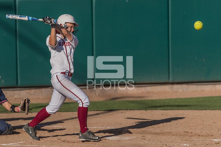 Stanford, CA; Sunday April 17 2016; Softball, Stanford vs Arizona