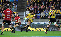 Julian Savea in action during the Super Rugby match between the Hurricanes and Crusaders at Westpac Stadium in Wellington, New Zealand on Saturday, 10 March 2018. Photo: Dave Lintott / lintottphoto.co.nz