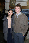 Kimiko Glenn and Sean Grandillo attends the Broadway Opening Night Performance of 'The Present' at the Barrymore Theatre on January 8, 2017 in New York City.