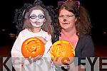 Tyler O'Sullivan and Susan O'Connor, Killorglin, pictured enjoying the annual Halloween parade in Killorglin on Saturday night.