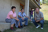 "Ramiz Bećirović and Zoran Panic from Landmine Survivors Initiative regularly meet with famlies affected by landmine incidents and provide psychological and financial support. Razija Aljić lost two of her sons, her husband and her son-in-law in three seperate landmine incidents. ""I also go into the woods, one has to provide sustenance for the family."" says Ruzmir (19), her only remaining son."