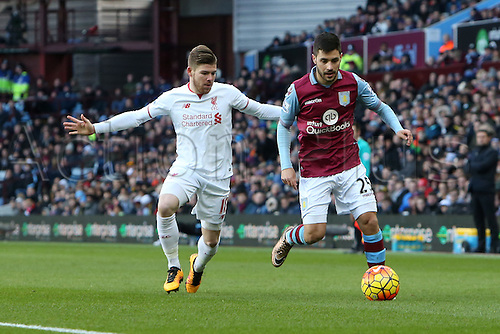 14.02.2016. Villa Park, Birmingham, England. Barclays Premier League. Aston Villa versus Liverpool.<br />
