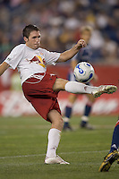 Danny O'Rourke volleys a pass. NE Revolution defeat New York Red Bulls, 1-0, at Gillette Stadium on Sept. 9, 2006.