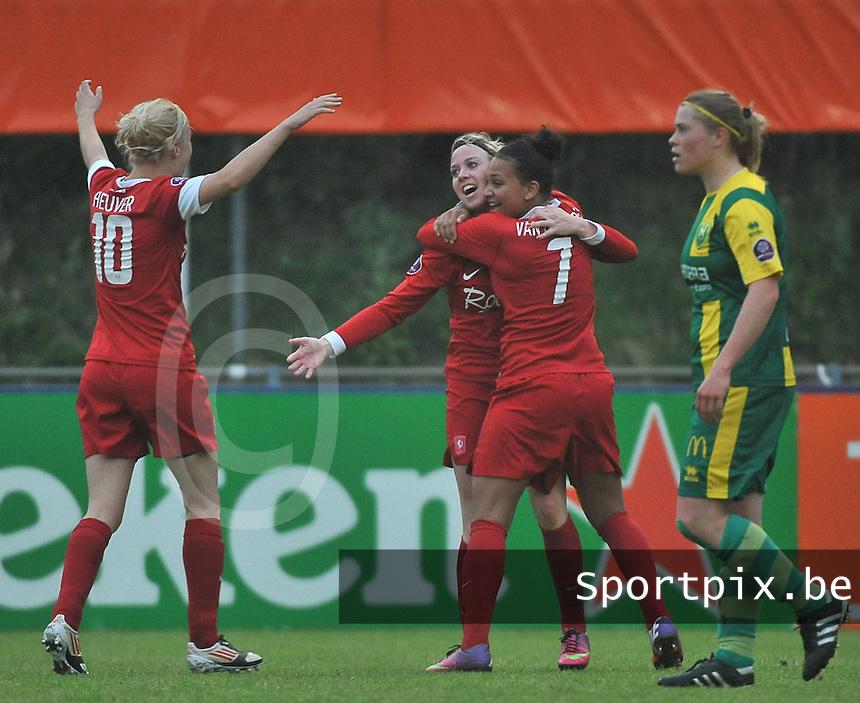 KNVB Beker Finale : ADO Den Haag - FC Twente : vreugde bij Twente bij de gelijkmaker van Marlous Pieete<br /> foto DAVID CATRY / Nikonpro.be