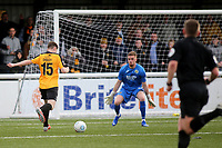 Jake Embery scores Maidstone's opening goal during Maidstone United vs Havant and Waterlooville, Vanarama National League Football at the Gallagher Stadium on 9th March 2019