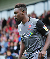 Lincoln City's Bernard Mensah<br /> <br /> Photographer Andrew Vaughan/CameraSport<br /> <br /> The EFL Sky Bet League One - Macclesfield Town v Lincoln City - Saturday 15th September 2018 - Moss Rose - Macclesfield<br /> <br /> World Copyright &copy; 2018 CameraSport. All rights reserved. 43 Linden Ave. Countesthorpe. Leicester. England. LE8 5PG - Tel: +44 (0) 116 277 4147 - admin@camerasport.com - www.camerasport.com