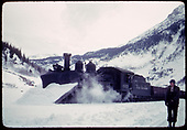 D&amp;RGW #463 K-27 with snowplow near Silverton.<br /> D&amp;RGW  Silverton, CO