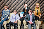 At the Lee Strand Kerry Garda Youth Achievement Awards 2016 in Ballyroe Heights on Friday were, from left. Denis O'Leary, Luke Coffey, Owen Barry, Killarney, Merit Award Winner, Daniel O'Connor, Emma Lenihan