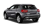 Car pictures of rear three quarter view of a 2018 Mercedes Benz GLA 250 4MATIC 5 Door SUV angular rear