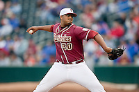 March 29, 2011:   Florida State Seminoles rhp Hunter Scantling (30) throws during the first inning of action between Florida Gators and Florida State Seminoles played at the Baseball Grounds of Jacksonville in Jacksonville, Florida.  Florida State defeated Florida 5-2............
