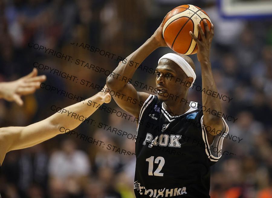 Kosarka FIBA Champions League season 2016-2017<br /> Partizan v PAOK<br /> Thaddus McFadden<br /> Beograd, 08.01.2016.<br /> foto: Srdjan Stevanovic/Starsportphoto &copy;