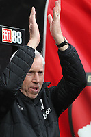 Alan Pardew manager of West Bromwich Albion after the Premier League match between Bournemouth v West Bromwich Albion played at Vitality Stadium, Bournemouth United Kingdom  on 17 Mar 2018