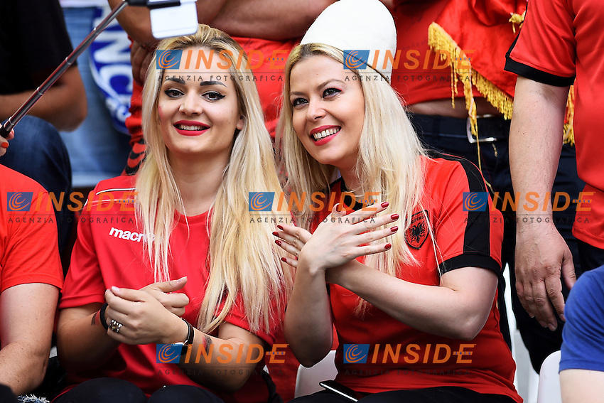 Tifose Albania Supporters <br /> Marseille 15-06-2016 Stade du Velodrome <br /> Football Euro2016 France - Albania / Francia - Albania Group Stage Group A<br /> Foto Massimo Insabato / Insidefoto