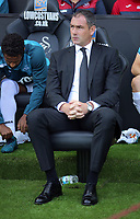 Watford manager Marco Silva sits in the dug out during the Premier League match between Swansea City and Watford at The Liberty Stadium, Swansea, Wales, UK. Saturday 23 September 2017