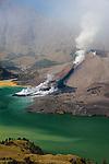 Mount Rinjani erupts in Lombok, Indonesia, 2009
