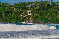 Waves pounding the shore, Mirissa Beach, south coast of Sri Lanka.